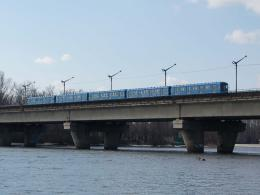 The Rusanovka metro bridge