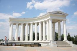 The colonnade of the Vorontsovsky palace